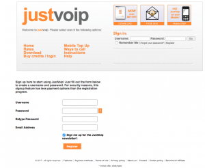 impression écran just voip