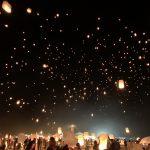 lantern in sky