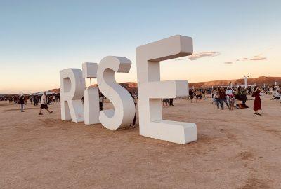 Rise festival sign